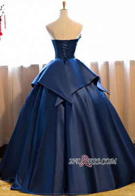 Puffy Strapless Embroidery Elegant 2020 Long Prom Dresses On Sale_3