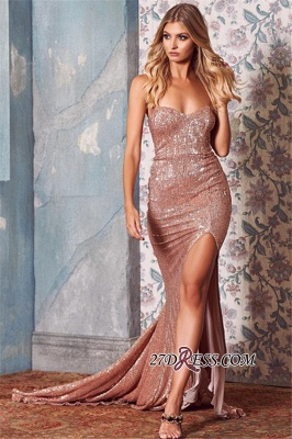 Sexy Sweetheart Sequins Prom Dresses | 2020 Mermaid Evening Gowns On Sale_2