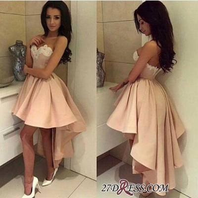Ball-Gown Lace High-low Sweetheart Modern Cocktail Dress LPL104_3