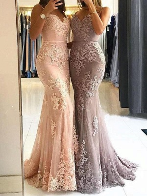 Gorgeous Lace Appliques Prom Dress | 2020 Mermaid Formal Dress_6