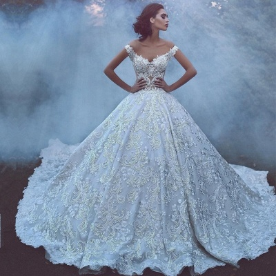 Glamorous Off-the-Shoulder Lace Wedding Dress | 2020 Mermaid Bridal Gowns On Sale_2