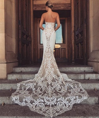Chic Sleeveless Lace Wedding Dresses | 2020 Long Tulle Ruffles Wedding Gowns BC1777_3