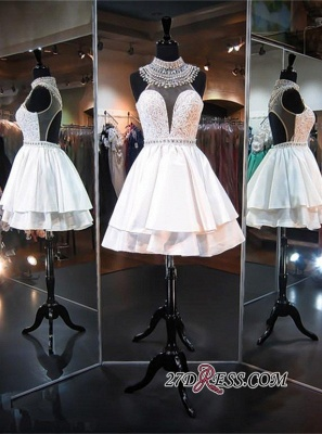 2020 Delicate High-Neck Sleeveless A-line Beads Mini Homecoming Dress_3