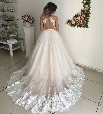 Gorgeous V-Neck Sleeveless Wedding Dresses | Lace 2020 Bridal Gowns_3