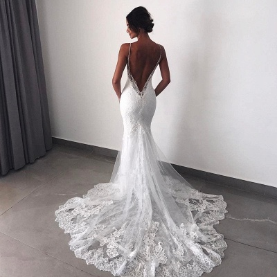 Charming Backless Lace Wedding Dress | 2020 Mermaid Bridal Gowns BC0129_3