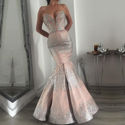 Glamorous Sweetheart Mermaid Prom Dress | 2020 Long Sequins Evening Gowns BC0358_2