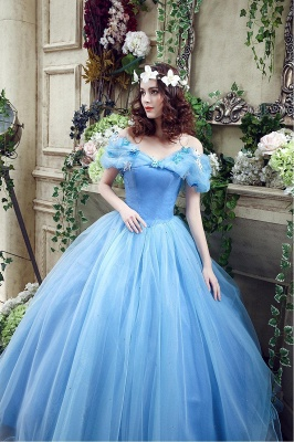 Princess Off-the-Shoulder Sequins Tulle Ball Gown Wedding Dress 2020 On Sale_7