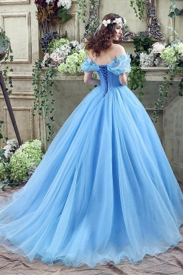 Princess Off-the-Shoulder Sequins Tulle Ball Gown Wedding Dress 2020 On Sale_5