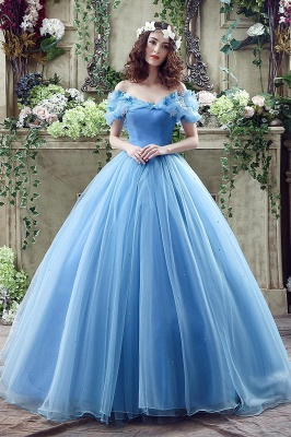 Princess Off-the-Shoulder Sequins Tulle Ball Gown Wedding Dress 2020 On Sale_1