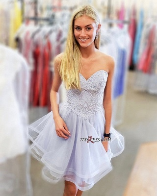 Short Strapless Sweetheart Wonderful A-line Homecoming Dresses_2