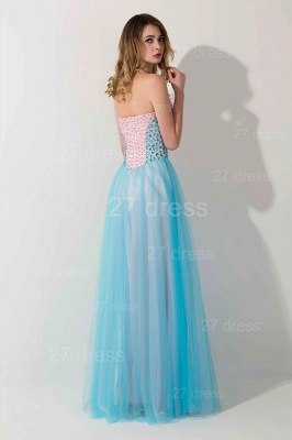 Elegant Sweetheart A-line Crystals Evening Dress Floor-length Sleeveless_2