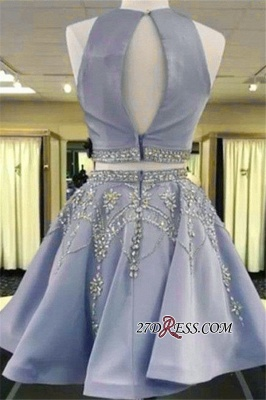 Short Crystal Two-Pieces A-line Sleeveless Gorgeous Homecoming Dress_3