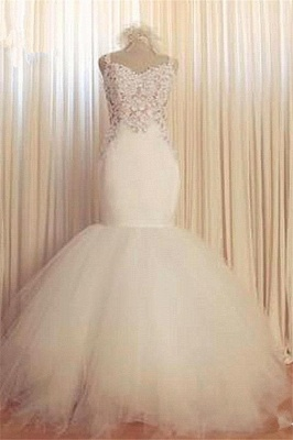 Gorgeous Lace Mermaid Wedding Dresses 2020 Tulle Sweetheart_3