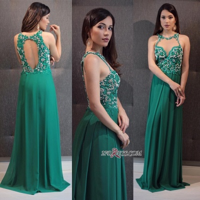Green prom dress, 2020 lace evening gowns_1