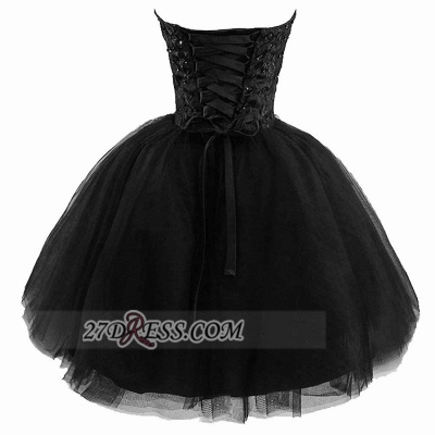 Modern Sweetheart Sleeveless Black Cocktail Dress Lace-up Beading Sequins Ball Gown Short Homecoming Gown_2