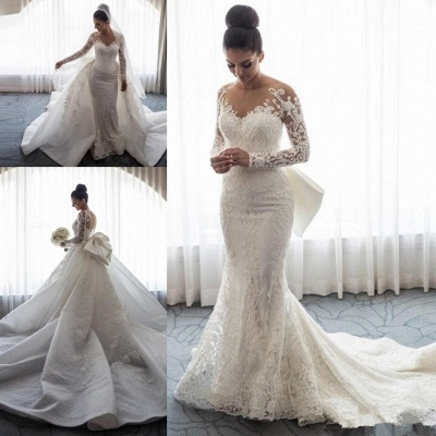 Gorgeous Long Sleeve Wedding Dress | 2020 Mermaid Lace Bridal Gowns BC0093_5