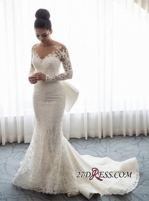 Gorgeous Long Sleeve Wedding Dress | 2020 Mermaid Lace Bridal Gowns BC0093_4