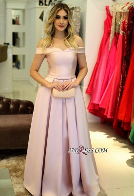 Pink lace-up prom dress,2020 evening gowns_2