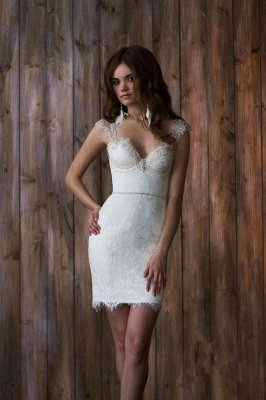 Glamorous Cap Sleeve Lace 2020 Wedding Dress Tulle Detachable_5