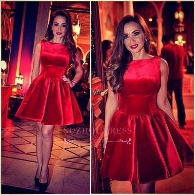 Sleeveless Designer Short Sexy Red Homecoming Dress_1