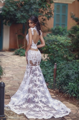 Sexy Lace Prom Dress | 2020 Mermaid Sheer-Skirt Party Gowns_4