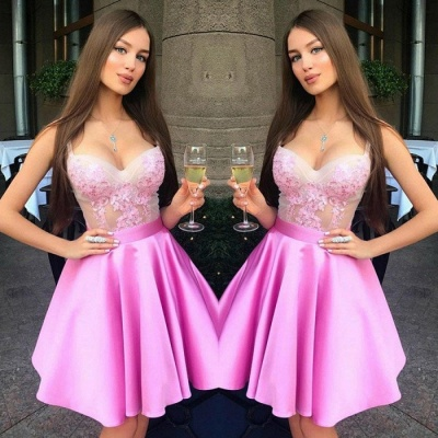 Gorgeous Sweetheart Straps Short Prom Dress   2020 Homecoming Dress On Sale_3