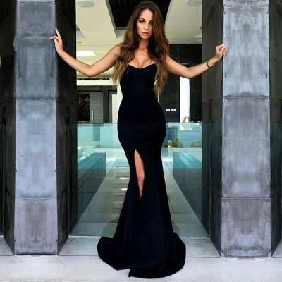 Sexy Mermaid Evening Dress | 2020 Slit Prom Dress On Sale_2