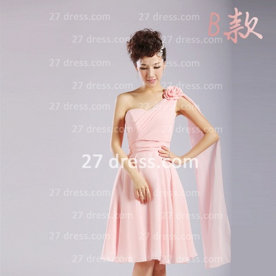 Bridesmaid Dresses,knee-length Prom Gown A-line 12 Styles Chiffon Ruffles_8