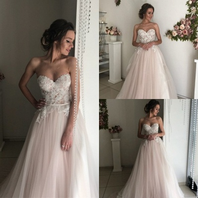 Elegant Sweetheart 2020 Wedding Dresses | Lace Tulle Bridal Gowns_4
