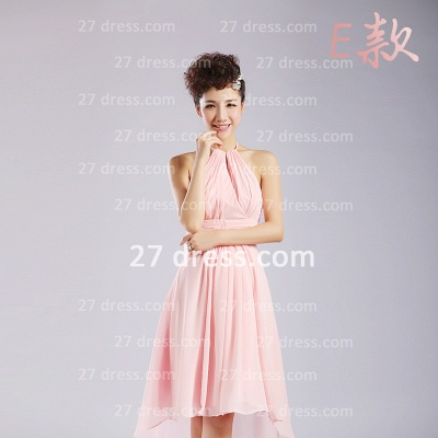 Bridesmaid Dresses,knee-length Prom Gown A-line 12 Styles Chiffon Ruffles_11