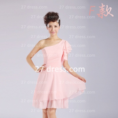 Bridesmaid Dresses,knee-length Prom Gown A-line 12 Styles Chiffon Ruffles_12
