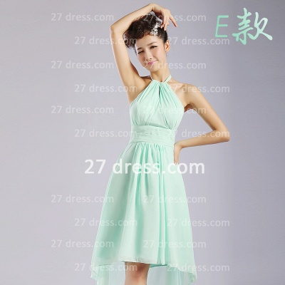 Bridesmaid Dresses,knee-length Prom Gown A-line 12 Styles Chiffon Ruffles_5