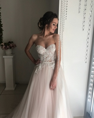 Elegant Sweetheart 2020 Wedding Dresses | Lace Tulle Bridal Gowns_3