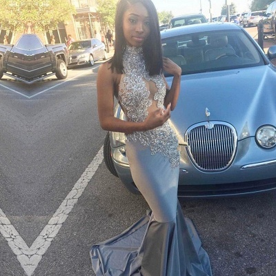 Silver Mermaid Prom Dress | 2020 Lace Long Evening Gowns_3