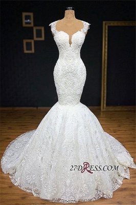 Gorgeous Buttom Appliques Covered Sleeveless Scoop Wedding Dresses_2