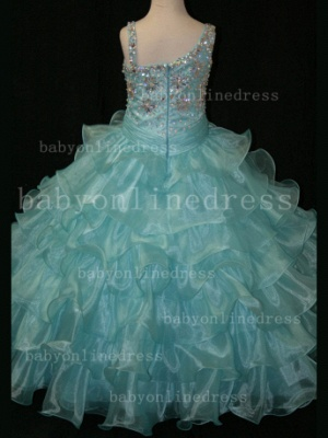 Crystal Girls Ball Gown Pageant Dresses Affordable Beauty Gownss Wholesale 2020 Beaded Layered_5