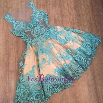 Short Tulle Sleeveless Appliques A-Line Newest Homecoming Dress BC0004_3