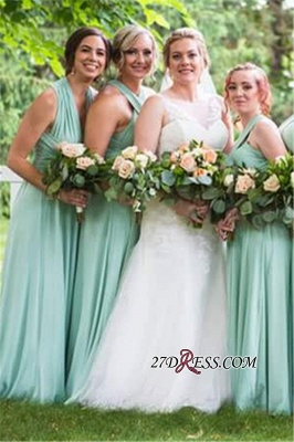 Convertible Lightsome Floor-Length A-line Bridesmaid Dresses_1