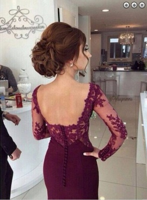 Gorgeous Long Sleeves Lace Appliques Evening Dress 2020 Mermaid Floor-Length_4