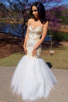 Sweetheart Beadings Prom Dress | Mermaid Long Evening Gowns_1