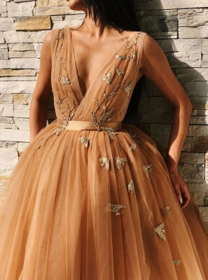 Chic V-Neck Sleeveless Homecoming Dresses | 2020 Tulle Short Prom Gowns BC0691_2