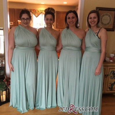 Convertible Lightsome Floor-Length A-line Bridesmaid Dresses_2
