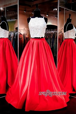 A-Line Glamorous Two-Piece Lace Prom Dress_2