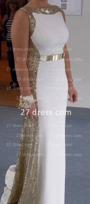Sleeveless Long Sequin Prom Dress with 2020 Sexy Real Scoop Neckline Evening Gowns Online Custom Made_2